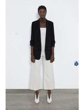 Blazer With Turn Up Sleeves by Zara