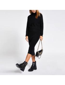 Black Layered Dress by River Island