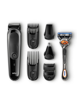 Braun All In One Trimmer Mgk3060 Shave & Trim Kit With 4 Combs, 2 Attachments, Razor, Cartridge by Braun