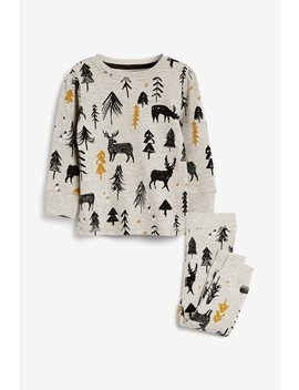 Grey Kids Matching Family Woodland Pyjamas (0mths 16yrs) by Next