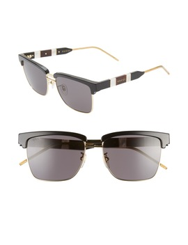 56mm Square Sunglasses by Gucci