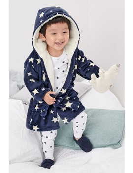 Navy Star Robe (9mths 8yrs) by Next