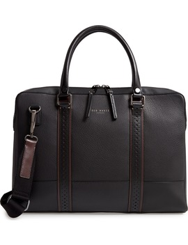 Catch Leather Document Bag by Ted Baker London
