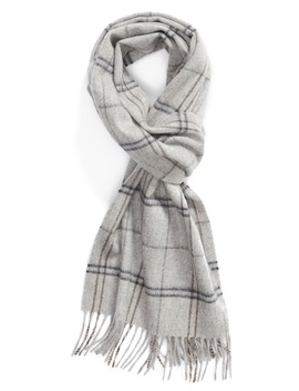 Windowpane Cashmere Scarf by Nordstrom Men's Shop