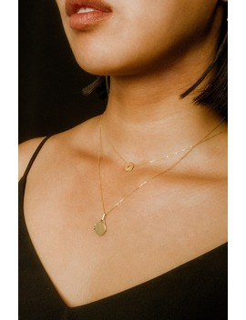 Mini Locket Mixed Metal Pendant Necklace by Loren Stewart