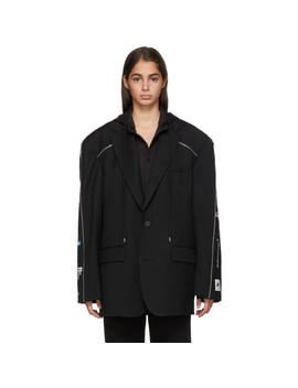 Black Zip Blazer by Ader Error