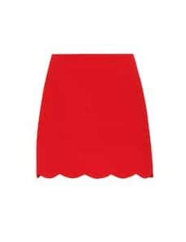 Scalloped Miniskirt by Miu Miu