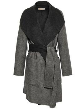 Brushed Wool Blend Felt Coat by Michael Michael Kors