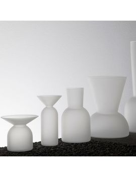 Good Thing Gather Vases   Frosted by West Elm