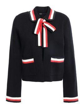 Pussy Bow Cotton Blend Jacket by Maje