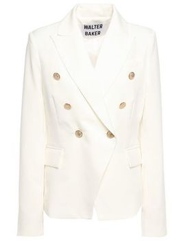 Phelps Double Breasted Crepe De Chine Blazer by Walter Baker
