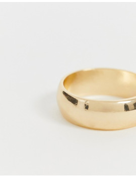 Asos Design – Breiter, Goldfarbener Ring by Asos