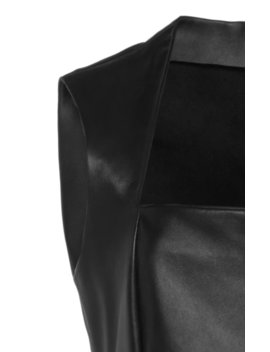Leather Midi Dress by Bottega Veneta