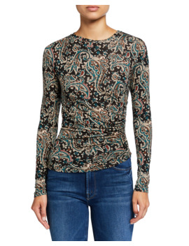 Alaxandra Paisley Print Ruched Top by Joie
