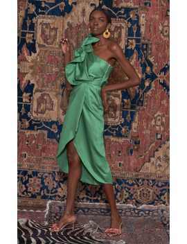 Persian Opulence One Shoulder Cotton Blend Dress by Johanna Ortiz