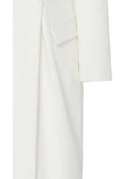 Belted Wool Blend Gabardine Gown by Brunello Cucinelli