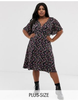 Brave Soul Plus Aaron Wrap Dress by Asos