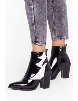 Contrast Panel Heeled Ankle Boots by Nasty Gal