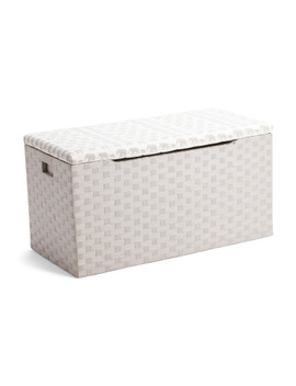 Large Woven Cord Trunk With Hinged Lid by Tj Maxx