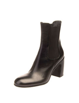 Rrp €410 Ann Demeulemeester Leather Ankle Boots Size 40 Uk 7 Us 10 Stacked Heel by Ann Demeulemeester