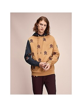 Hilfiger Collection All Over Crest Hoodie by Tommy Hilfiger