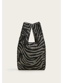 Tas Met Pailletten En Zebraprint by Mango