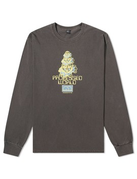 Brain Dead Long Sleeve Processed World Tee by Brain Dead