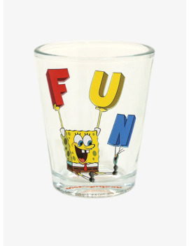 Sponge Bob Square Pants F.U.N. Mini Glass   Box Lunch Exclusive by Box Lunch