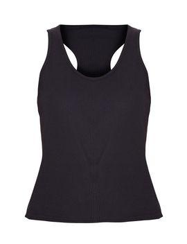 Black Rib Racer Longline Vest by Prettylittlething