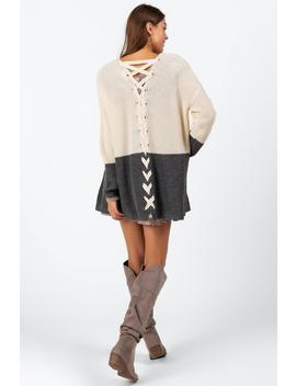 Octavia Lace Up Cardigan by Francesca's