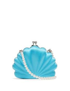Shells Satin Clutch by Balenciaga