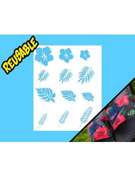 Floral Slide Stencils by Etsy