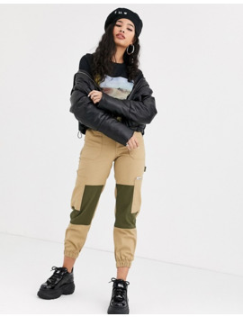 Bershka Cropped Puffer Jacket In Black by Bershka
