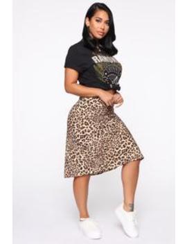All Bite Satin Midi Skirt   Taupe by Fashion Nova