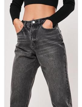 Black Riot Highwaisted Mom Jeans by Missguided