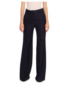 Wool High Rise Wide Leg Pants by Victoria Beckham