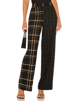 Mixed Print Wide Leg Pant In Rich Black by 1. State