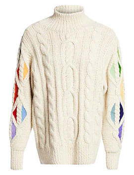 Pain In The Glass Alpaca Knit Sweater by Rosie Assoulin