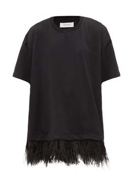 Feathered Cotton Jersey T Shirt Dress by Marques'almeida