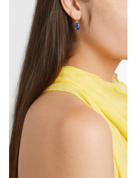 Cauri N°2 9 Karat Gold, Lapis Lazuli And Faux Coral Earring by Pascale Monvoisin