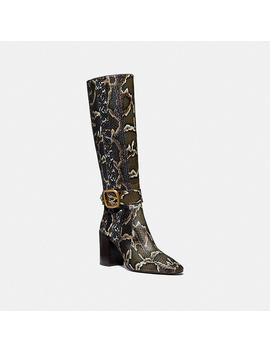 Evelyn Boot In Snakeskin by Coach
