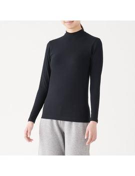 Cotton Warm High Neck Long Sleeve T Shirt by Muji