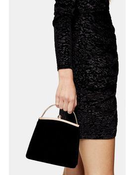 Garland Black Velvet Bag by Topshop