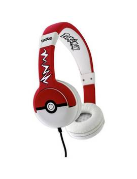 Pokemon Pokeball Kids On Ear Headphones   Black / Red742/0607 by Argos