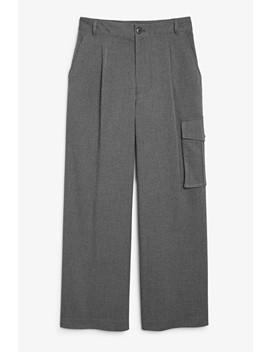Wide Leg Cargo Trousers by Monki