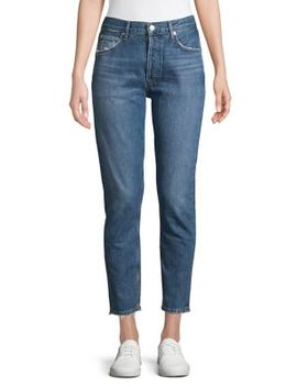 Jamie High Rise Classic Raw Crop Jeans by Agolde