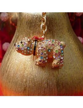 Beautiful Multi Coloured Polar Bear Rhinestone Keyring Charm Pendant Purse Bag Key Ring Chain Keychain Gifts by Etsy