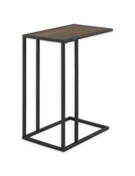 Forest Gate C Shaped Side Table In Grey Wash by Bed Bath And Beyond