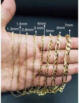 14k Solid Yellow Gold Figaro Link Necklace, Figaro Bracelet,Mens Chain, 1.3mm, 1.9mm, 2.8mm, 3mm, 3.8mm, 4.6mm, 6mm, 7mm Sale by Etsy