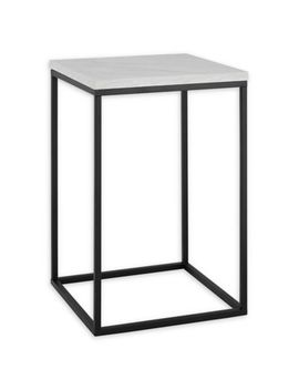 """Forest Gate 16"""" Vivian Modern Faux Concrete Side Table by Bed Bath And Beyond"""